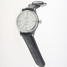 Rolex Cellini Swiss ETA 2836 Movement with White Dial-Leather Strap