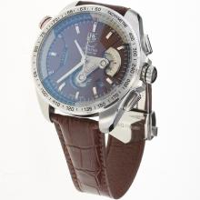 Tag Heuer Grand Carrera Calibre 36 Working Chronograph with Brown Dial-Leather Strap