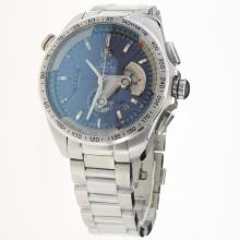 Tag Heuer Grand Carrera Calibre 36 Working Chronograph with Blue Dial S/S