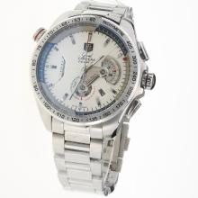Tag Heuer Grand Carrera Calibre 36 Working Chronograph with White Dial S/S