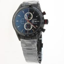 Tag Heuer Carrera Working Chronograph Full PVD Ceramic Bezel with Black Dial