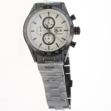 Tag Heuer Carrera Working Chronograph Full PVD Ceramic Bezel with White Dial