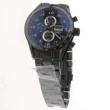 Tag Heuer Carrera Calibre 16 Working Chronograph Full PVD Ceramic Bezel with Black Dial