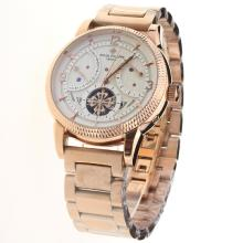 Patek Philippe Tourbillon Automatic Full Rose Gold with White Dial