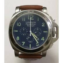 Panerai Luminor Working Chronograph with Blue Dial-Leather Strap-3