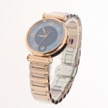 Cartier Classic Full Rose Gold with Blue Dial