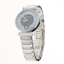 Cartier Classic Diamond Bezel with Brown/Blue Dial S/S