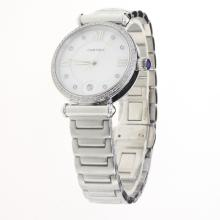 Cartier Classic Diamond Bezel with White Dial S/S