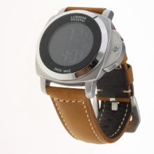 Panerai Luminor with Electronic Screen-Brown Leather Strap