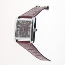 Cartier Tank Purple Dial with Purple Leather Strap