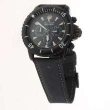 Blancpain Fifty Fathoms Working Chronograph PVD Case with Black Dial-Nylon Strap
