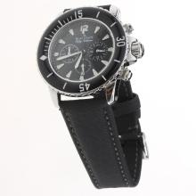 Blancpain Fifty Fathoms Working Chronograph with Black Dial-Nylon Strap