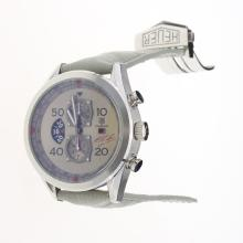 Tag Heuer Carrera Cal.1887 Working Chronograph with Gray Dial-Leather Strap