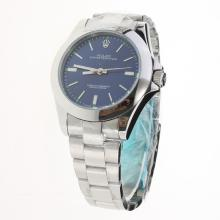 Rolex Oyster Perpetual Automatic Stick Markers with Blue Dial S/S
