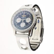 Breitling Navitimer Chronograph Swiss Valjoux 7750 Movement Stick Markers with Black Dial S/S-2