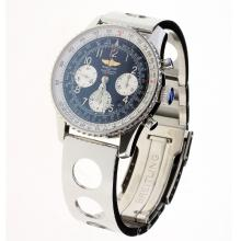 Breitling Navitimer Chronograph Swiss Valjoux 7750 Movement Number Markers with Black Dial S/S-2