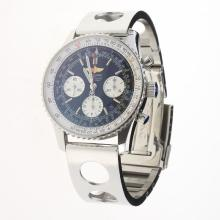 Breitling Navitimer Chronograph Swiss Valjoux 7750 Movement Stick Markers with Black Dial S/S-1