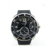 Cartier Calibre de Cartier Automatic with Black Dial-Rubber Strap