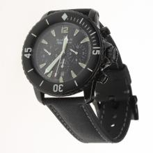 Blancpain Fifty Fathoms Automatic PVD Case with Black Dial-Nylon Strap