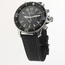 Blancpain Fifty Fathoms Automatic with Black Dial-Nylon Strap