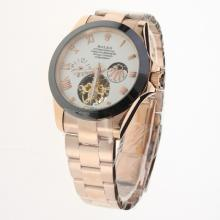 Rolex Oyster Perpetual Tourbillon Full Rose Gold Ceramic Bezel with White Dial