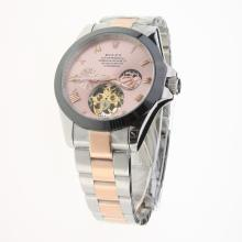 Rolex Oyster Perpetual Tourbillon Two Tone Ceramic Bezel with Champagne Dial