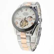 Rolex Oyster Perpetual Tourbillon Two Tone Ceramic Bezel with White Dial