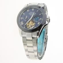 Rolex Oyster Perpetual Tourbillon Ceramic Bezel with Blue Dial S/S