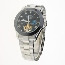 Rolex Oyster Perpetual Tourbillon Ceramic Bezel with Black Dial S/S