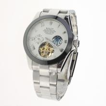 Rolex Oyster Perpetual Tourbillon Ceramic Bezel with White Dial S/S