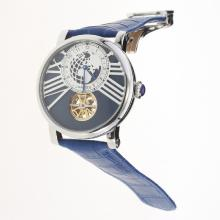 Cartier Rotonde de Cartier Tourbillon Automatic with Blue Dial-18K Plated Gold Movement