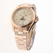 Rolex Oyster Perpetual Full Rose Gold with Champagne Dial