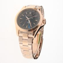 Rolex Oyster Perpetual Full Rose Gold with Black Dial