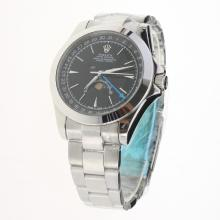 Rolex Oyster Perpetual with Black Dial S/S-1