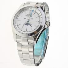Rolex Oyster Perpetual with White Dial S/S-2