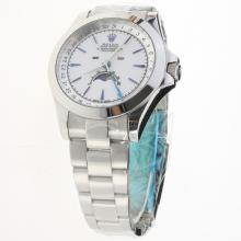 Rolex Oyster Perpetual with White Dial S/S-1