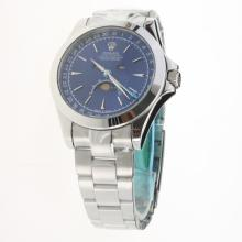 Rolex Oyster Perpetual with Blue Dial S/S