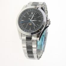 Rolex Oyster Perpetual with Black Dial S/S