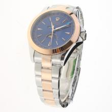 Rolex Oyster Perpetual Two Tone with Blue Dial