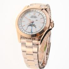Rolex Oyster Perpetual Full Rose Gold with White Dial