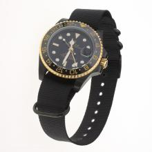 Rolex GMT Master II Bamford Automatic Two Tone Case Ceramic Bezel with Black Dial-Nylon Strap-1