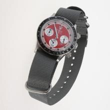 Rolex Daytona Working Chronograph Red Dial with Nylon Strap-Vintage Edition-2
