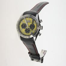 Tudor Fastrider Working Chronograph with Yellow Dial-Leather Strap