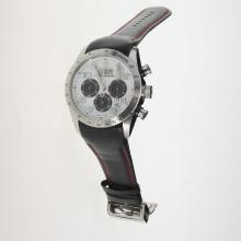 Tudor Fastrider Working Chronograph with White Dial-Leather Strap