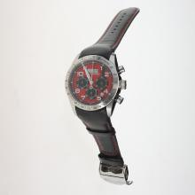 Tudor Fastrider Working Chronograph with Red Dial-Leather Strap
