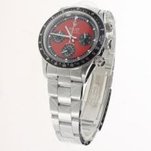 Rolex Daytona Working Chronograph with Red Dial S/S-Vintage Edition-3