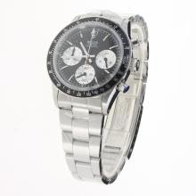 Rolex Daytona Working Chronograph with Black Dial S/S-Vintage Edition-3