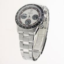 Rolex Daytona Working Chronograph with White Dial S/S-Vintage Edition-3