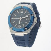 IWC InGenieur Working GMT Automatic with Blue Dial-Rubber Strap