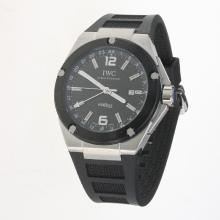 IWC InGenieur Working GMT Automatic with Black Dial-Rubber Strap